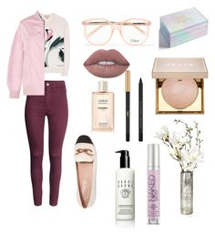 """Sin título #11"" by yumyv ❤ liked on Polyvore featuring H&M, Yves Saint Laurent, Chloé, Chanel, Tod's, Burberry, Lime Crime, Bobbi Brown Cosmetics, Urban Decay and Celebrate Shop"