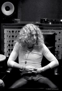Led Zeppelin lead singer Robert Plant at Electric Lady Studios in NYC, circa 1973.
