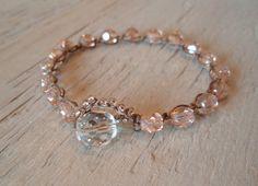pink crochet bracelet