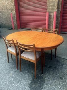Vintage retro 60 s teak g plan gomme dining table and butterfly