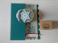 Festive Flurries Cards For Beginners to Advanced Stampers / new stamp set Christmas Paper Crafts, Stampin Up Christmas, Christmas Projects, Scrapbooking 101, Scrapbook Cards, Snowflake Cards, Snowflakes, Flip Cards, Stamp Pad