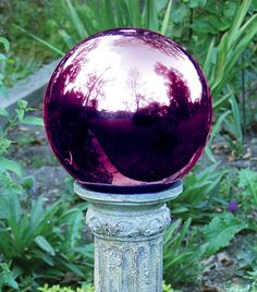 Gazing globe - love the color!  I want one of these