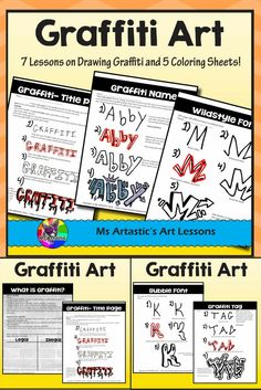 Let your students learn the basics of drawing in the style of Graffiti through this thorough product. This is a great way to teach technique of a specific style and engage all the students in your class and hook them onto art! This is great for grabbing t