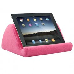 Cute!  iPad Cushion Stand | iPad Pillows | Tablet Pillow | Wedgestand