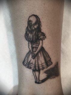 Tiny Alice tattoo. #tattoos #aliceinwonderand done at Seven Gates Tattoo, Vernon, NJ
