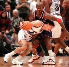 John Stockton (Utah Jazz) and Michael Jordan