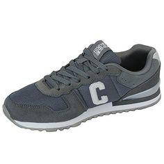 Herren Sportschuhe Crosshatch Sneakers Schuhe mit Schnürsenkel Wildleder Rennschuhe Netz Designer Neu - Leder und Stoff, 45, Grau - HADDEN - http://on-line-kaufen.de/crosshatch/45-eu-herren-sportschuhe-crosshatch-sneakers-mit