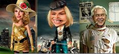 Ultimate Collection of 25 Funniest Celebrity Caricatures http://funnyneel.com/blog/funny-people | Funny Pictures http://funnyneel.com | Follow us www.pinterest.com/webneel/funny-pictures
