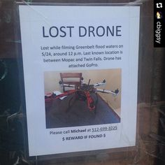 """""""#Repost @cbiggsy with @repostapp. ・・・ We certainly live in the future now. #lostdrone"""" Photo taken by @find_my_drone on Instagram, pinned via the InstaPin iOS App! http://www.instapinapp.com (06/13/2015)"""