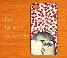 cat heart Love iPhone 5 Case ,Cut art Cat iphone 5c case,iphone 5s cover, iphone 5c cover,Phone Cover rubber case,Gear for iPhone,skin cover on Etsy, $6.99