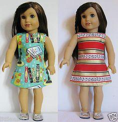 2-American-Girl-Doll-Clothes-Handmade-Dresses-18-Dolls-Maplelea-Handcraft-TQ1