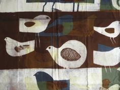 Paapje bird etch print on cotton www.paapje.nl