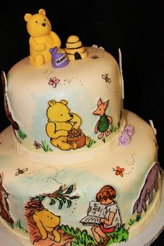 Winnie the Pooh themed Baby Shower . 30 Luxury Winnie the Pooh themed Baby Shower . Storybook themed Baby Shower Quote Centerpiece Winnie the Winnie The Pooh Cake, Winnie The Pooh Birthday, Vintage Winnie The Pooh, Pretty Cakes, Cute Cakes, Friends Cake, First Birthday Cakes, Birthday Stuff, 2nd Birthday