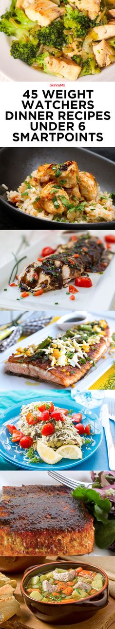 45 Weight Watchers dinner recipes under 6 SmartPoints system allows you to recognize how much you're eating at each meal, as well as how much you need to eat in a day in order to lose weight without starving yourself.