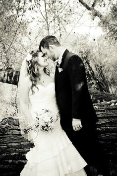 Very romantic...  you never go wrong with black and white !