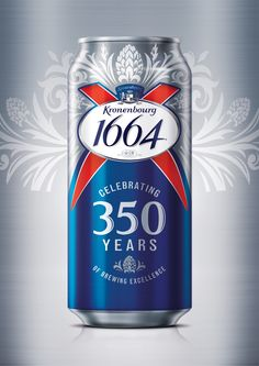 Kronenbourg 350 years limited edition beer. Designed by BrandMe