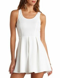 Triple Heart Cut-Out Skater Dress: Charlotte Russe