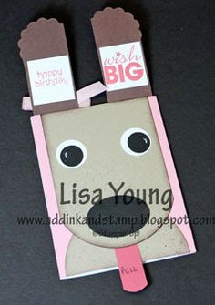 Add Ink and Stamp: Doggy card with flip up ears