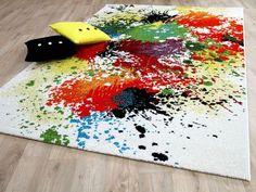 Designer Teppich Funky Splash Bunt Carpet, Kids Rugs, Color, Home Decor, Trends, Image, Abstract Pattern, Modern Carpet, Colour Pattern