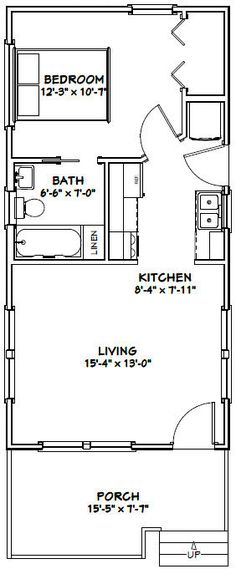 12x32 tiny house 12x32h1b 384 sq ft excellent floor plans