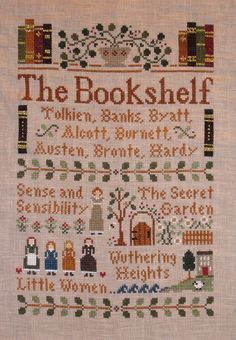 library cross stitch.