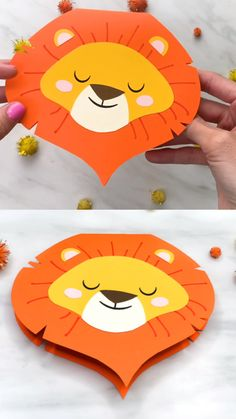 Fathers Day Card Craft-Fathers Day Card Craft Learn how to make this easy lion card to give to Dad or Grandpa this Father's Day. It's a homemade art project kids can do at school, at church or at home. Plus, it comes with a free printable template. Easy Crafts For Kids, Toddler Crafts, Preschool Crafts, Fun Crafts, Art For Kids, Paper Crafts, Craft Kids, Preschool Kindergarten, Canvas Crafts