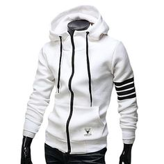 Rrive Mens Pleated Stylish Stand Collar Hooded Drawstring Sweatshirt Jacket