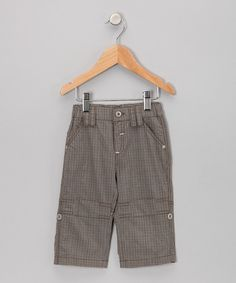 Look at this Brown Plaid Pants - Infant, Toddler