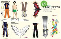 Make Your Own Sufjan Stevens Desk Buddy Paper Doll. Oh. My. God. Amazing.