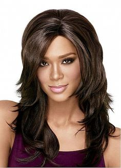 Luscious Layers Long Straight Ful Lace 100% Human Hair Custom Wig About 18 Inches