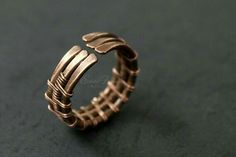 Wire Jewelry Rings, Wire Wrap Bracelets, Copper Jewelry, Jewelery, Wire Wrapped Rings, Wire Weaving, Copper Wire, Copper Rings, Jewelry Crafts
