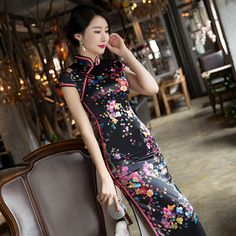 >> Click to Buy << 2017 Qipao Abendkleider Acrylic New Cheongsam Fashion Slim Floral Party Dress Tang Dreamspell Garment Factory Direct Sales  #Affiliate