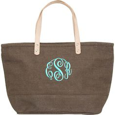 Personalized Tote Bag Brown Jute Burlap Medium by parsik93 on Etsy, $20.99