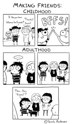 Making Friends, a Sarah's Scribbles comic by Sarah Andersen