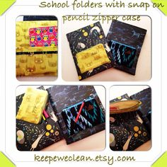 School folders on keepeweclean.etsy.com