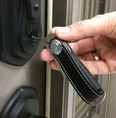 Smart Genuine Leather Key Wallet EDC Gear Creative Compact Key Holder Features: - Smart and High fashion unisex. - Made with genuine cowhide/ cow leather. Key Wallet, Slim Wallet, Leather Key Holder, Keychain Design, Key Case, Edc Gear, Minimalist Wallet, How To Slim Down, Cow Leather