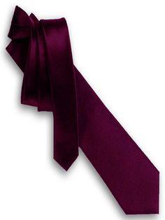 Mens Berry Purple Tie