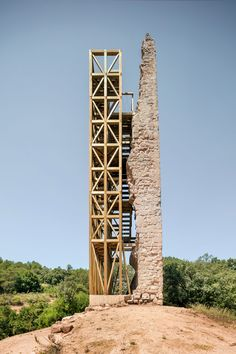 banking architecture Gallery of Recovery of Merolas Tower / Carles Enrich Studio - 16 Mini Clubman, Architecture Renovation, Timber Structure, Adaptive Reuse, Barcelona, Old Building, Brick And Stone, Construction, Heritage Site