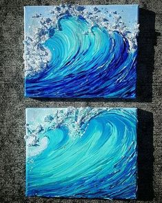 Wave painting Original art from oahu Jennawelleinart. Wave painting Original art from oahu Jenna Cute Canvas Paintings, Mini Canvas Art, Acrylic Art Paintings, Wave Paintings, Acrylic Painting Inspiration, Painting Canvas, Ocean Canvas, Ocean Art, Art Original