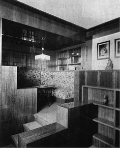 Müller House - Adolf Loos; the multi-level spatial design of the Villa Müller, known as Raumplan, could be interpreted as voyeuristic objectification in relation to the architectural dialogue between our public versus private selves, and beyond this addresses the feminine versus masculine nature of manipulating space.