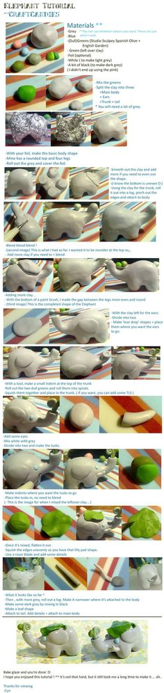 Elephant - (lots tutorials on this site for poly clay to adapt to fondant.)