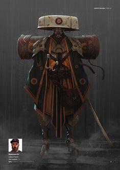 2DArtist_Issue_113_May15_Page_057 Character Design References, Game Character, Character Concept, Concept Art, Arte Ninja, Ninja Art, Arte Cyberpunk, Samurai Art, Robot Samurai