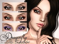 Dragonfly Eyeshadow by Pralinesims - Sims 3 Downloads CC Caboodle