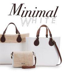 Minimal white Il bianco d'estate dal tocco raffinato! #Obag #summer #ss16 #white #minimalwhite #new