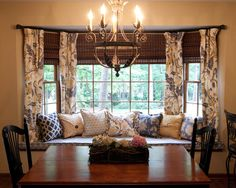 Bay Window Curtain Rods | 2013 Pictures and Installation
