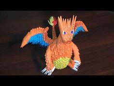 3D origami Pokemon Charizard (Dragon) tutorial