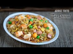 Auténtico Arroz Frito Tres Delicias Chino - YouTube Oriental Food, Chinese Food, Fried Rice, Easy Meals, Dinner Recipes, Yummy Food, Healthy Recipes, Cooking, Youtube