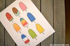 Popsicle Printable - Balancing Home