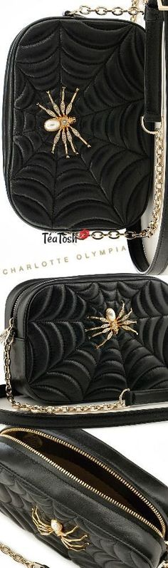 ❈Téa Tosh❈ Charlotte Olympia, camera bag in calfskin black Charlotte Olympia, Black And Gold Outfit, Old Hollywood Glamour, Gold Fashion, Luxury Shoes, Beautiful Shoes, Product Launch, Take That, Footwear