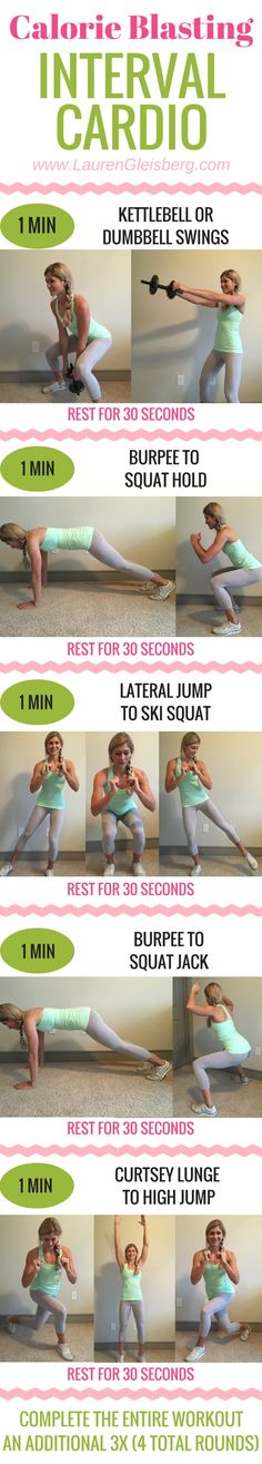 Home Workout - Lauren Gleisberg - Happiness, Health & Fitness Interval Cardio, Hiit, Kettlebell, Gym Workouts, At Home Workouts, Workout Routines, Lauren Gleisberg, I Work Out, Excercise